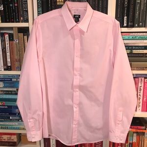 H&M Easy Iron Light Pink Button Down Shirt